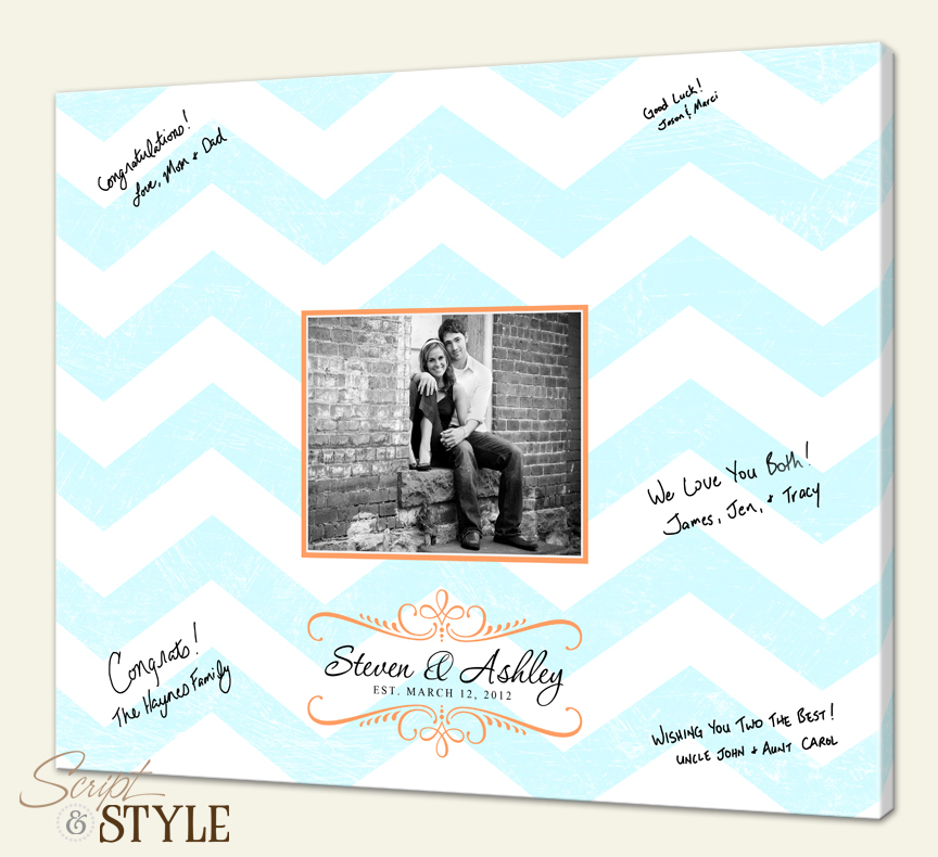 Popular The Perfect Wedding Guest Book Alternatives - Script and Style RK77
